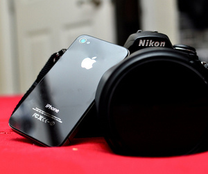 nikon, iphone, and camera image