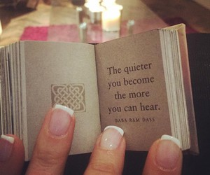book, quote, and silence image
