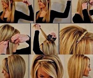 braid, hair, and head band image