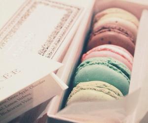 colorful, food, and macarons image