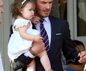 David Beckham, dad, and baby image