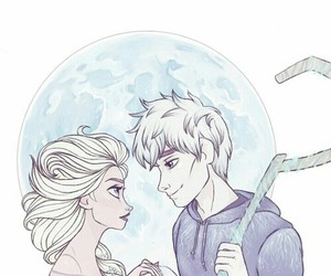 jelsa, disney, and frozen image