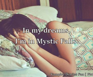 dreams, mystic falls, and sleep image