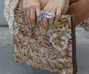 fashion, leaves, and ring image