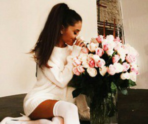 ariana grande and flowers image