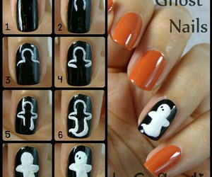 black, ghost, and Halloween image