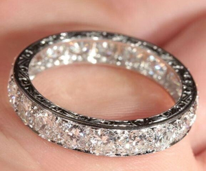 diamonds, engagement, and silver image