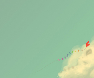 blue, cloud, and kite image