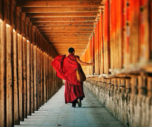 monk and thailand image