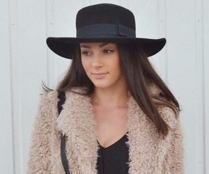 fashion, hat, and teddy coat image