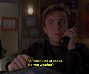 funny, Malcolm, and socks image