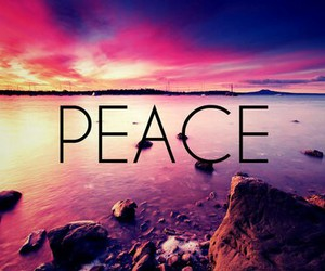 peace and beach image