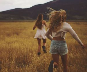 girl, friends, and run image