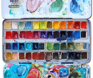 paint, art, and watercolor image