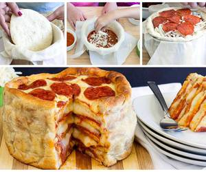 cake, pizza, and recipe image