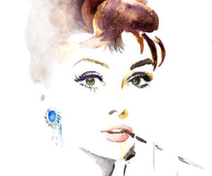 audrey hepburn, art, and audrey image
