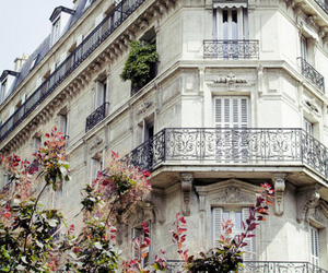 building, paris, and balcony image