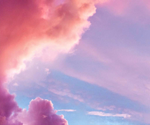 clouds, iphone, and pink image
