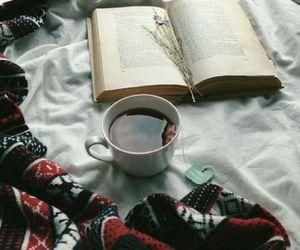 book, tea, and autumn image