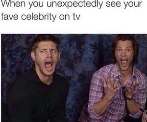 celebrities, funny, and supernatural image