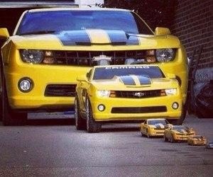 car, camaro, and yellow image