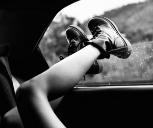 black and white, grunge, and legs image