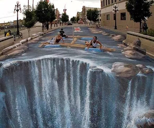 3d, awesome, and street art image