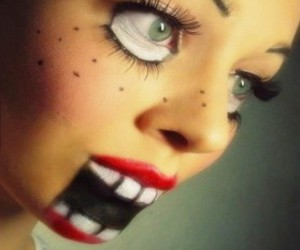 Halloween, doll, and make up image