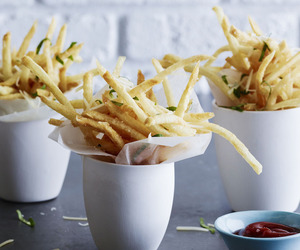 basil, cheese, and French Fries image