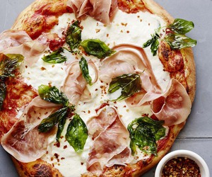 basil, cheese, and dough image