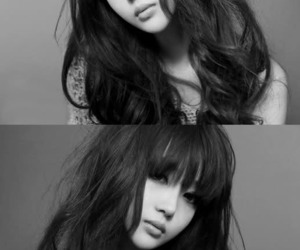 ulzzang, black and white, and girl image