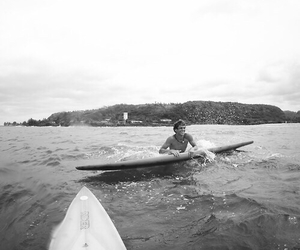 boy, surf, and black and white image