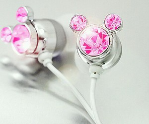 pink, disney, and music image