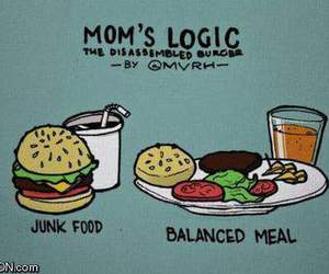 food, funny, and mom image