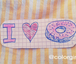candy, girly, and donuts image