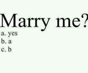 love, marry, and yes image