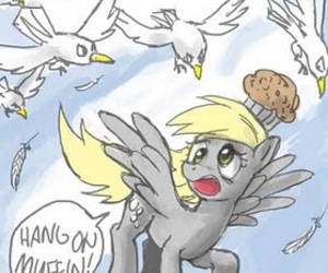 my little pony, derpy, and derpy hooves image