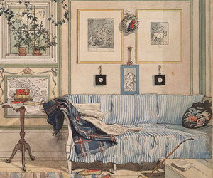 art, carl larsson, and dog image