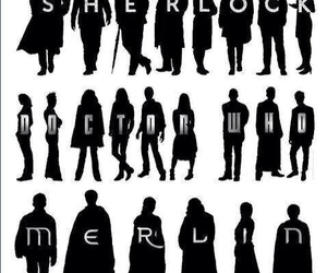 merlin, sherlock, and doctor who image