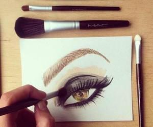 eyes, mac, and make up image