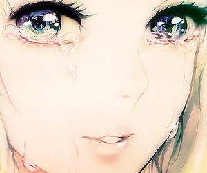 anime, eyes, and cry image