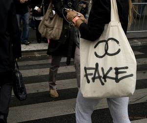 fake, chanel, and bag image