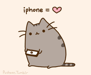iphone, pusheen, and cute image