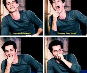 dylan o'brien, teen wolf, and laugh image