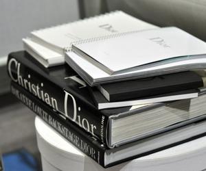 dior, book, and fashion image