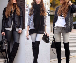 fashion, boots, and hair image