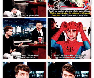 daniel radcliffe, harry potter, and spiderman image