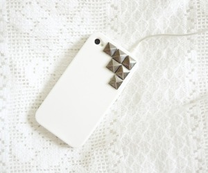 iphone, white, and studs image