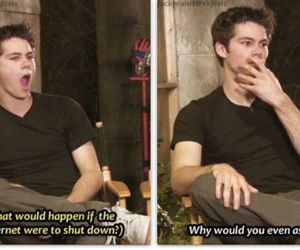 dylan o'brien, teen wolf, and internet image