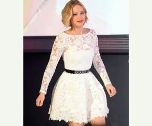 dress, Jennifer Lawrence, and elle magazine image